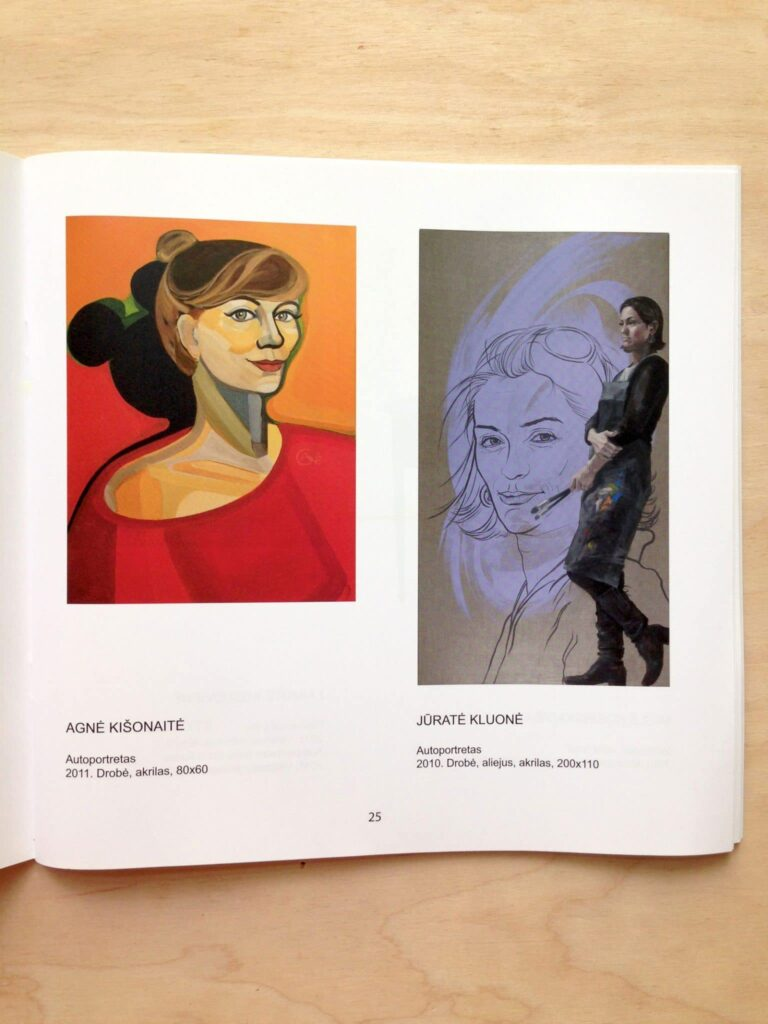 Exhibition catalogue with painting 'Self Portrait' author Agne Kisonaite