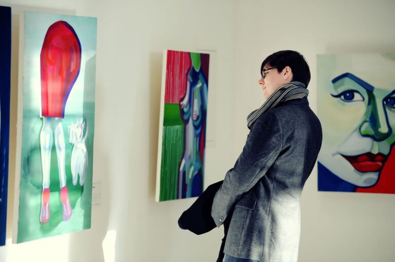 Exhibition moment with painting 'Chupa Chups'. Author - Agne Kisonaite
