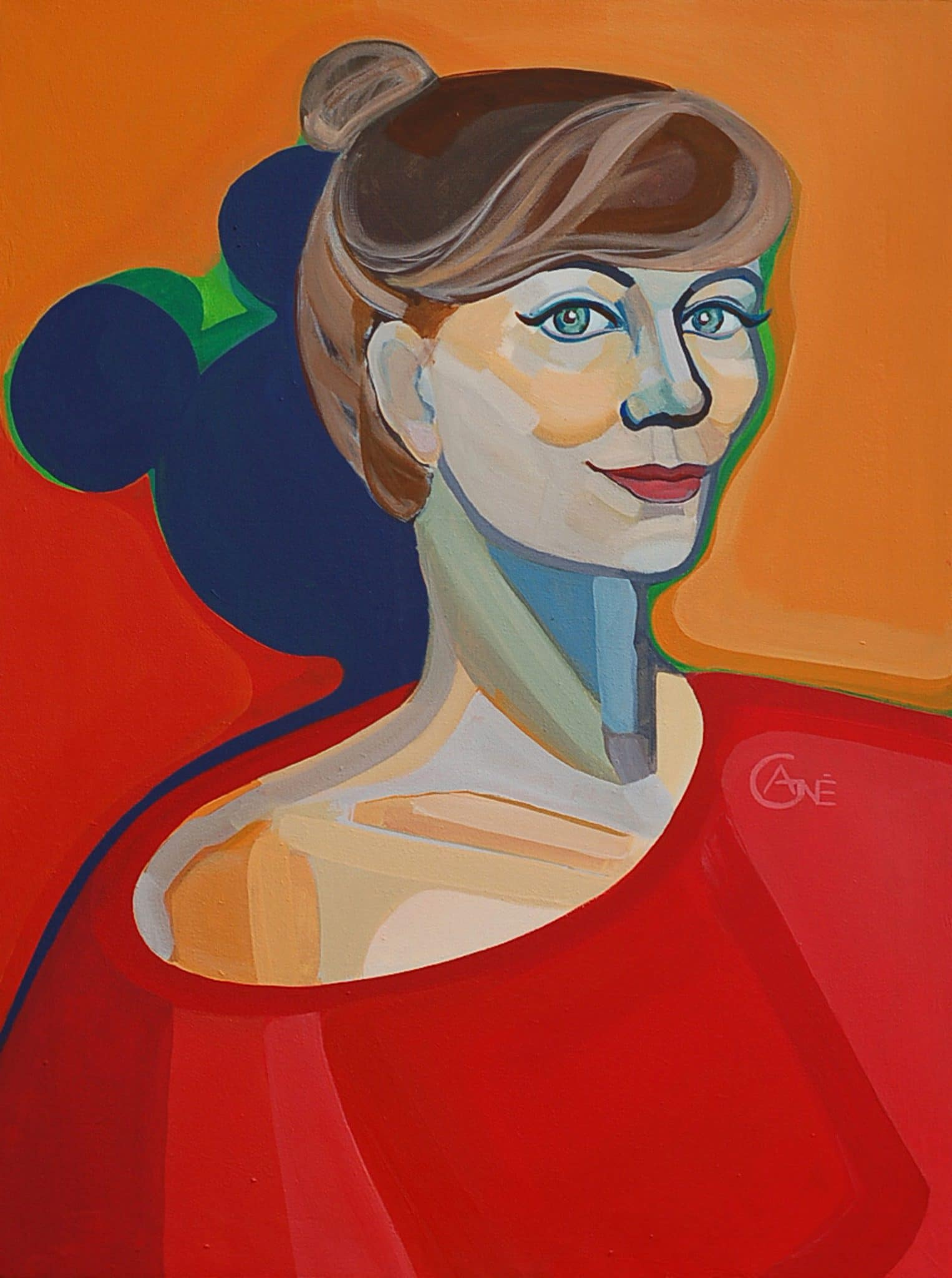 Thumbnail of painting 'Self Portrait' author Agne Kisonaite