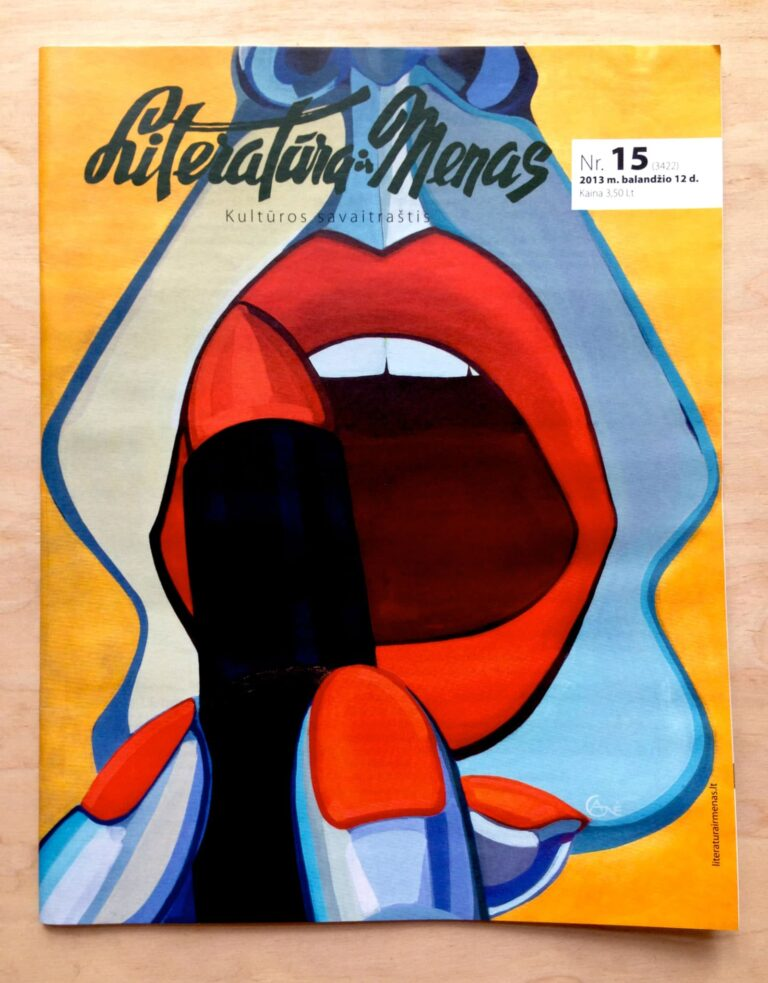 Cover of magazine 'Literatura ir menas' with artist Agne Kisonaite painting 'Ritual'