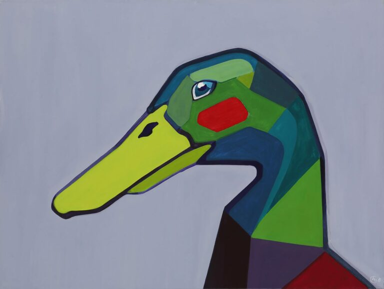 Painting 'Duck'. Author - artist Agne Kisonaite