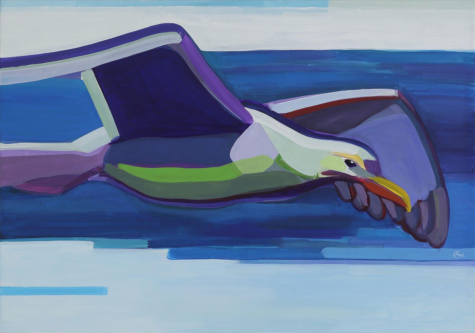 Painting 'Seagull #2'. Author - artist Agne Kisonaite
