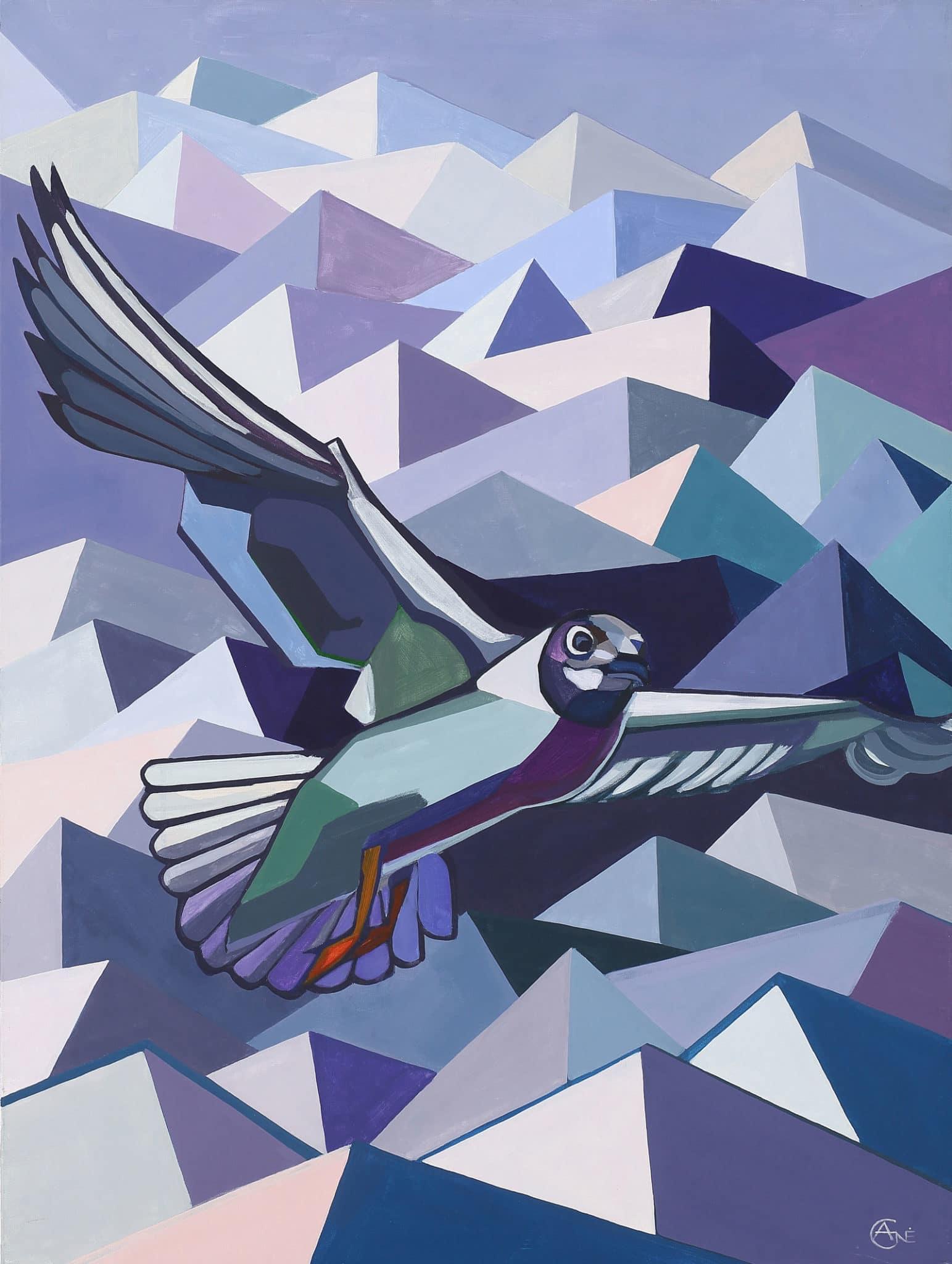 Painting 'Tern'. Author - artist Agne Kisonaite
