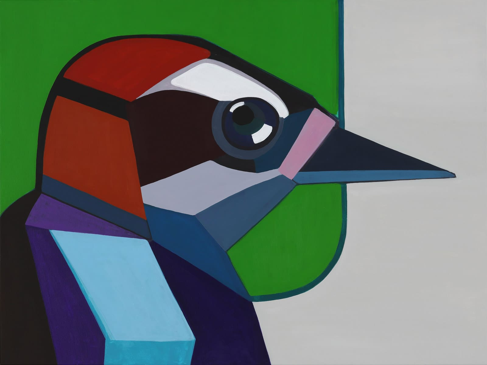Painting 'Woodpecker'. Author - artist Agne Kisonaite