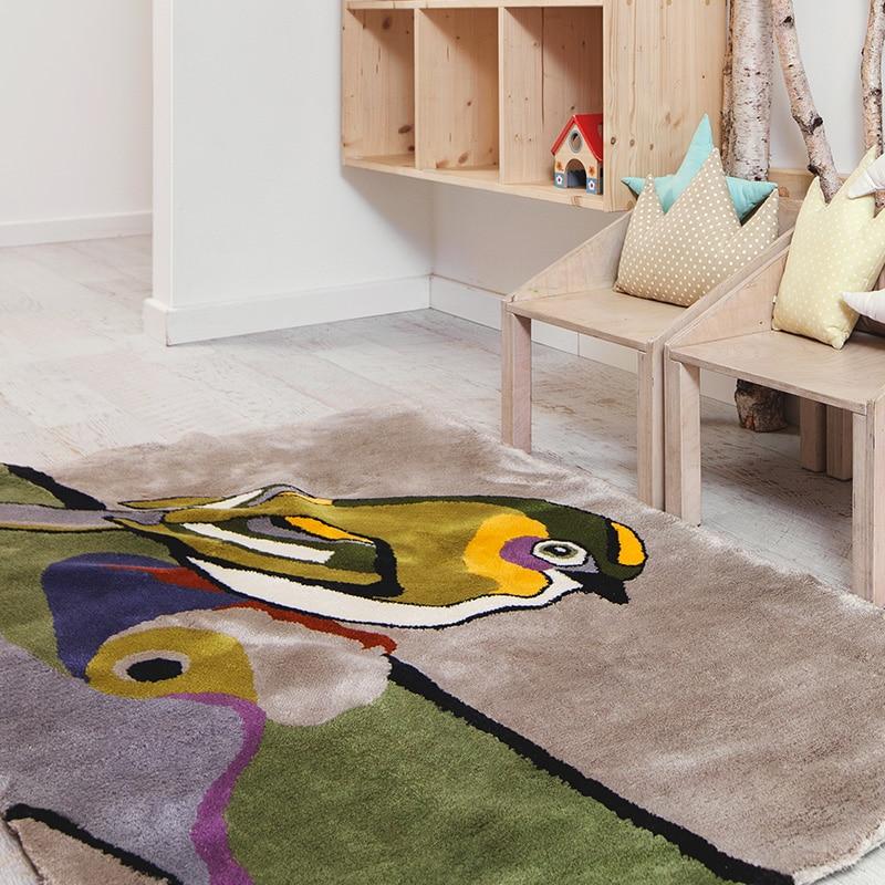 agne-kisonaite-linen-hand-woven-rug-Goldcrest-1