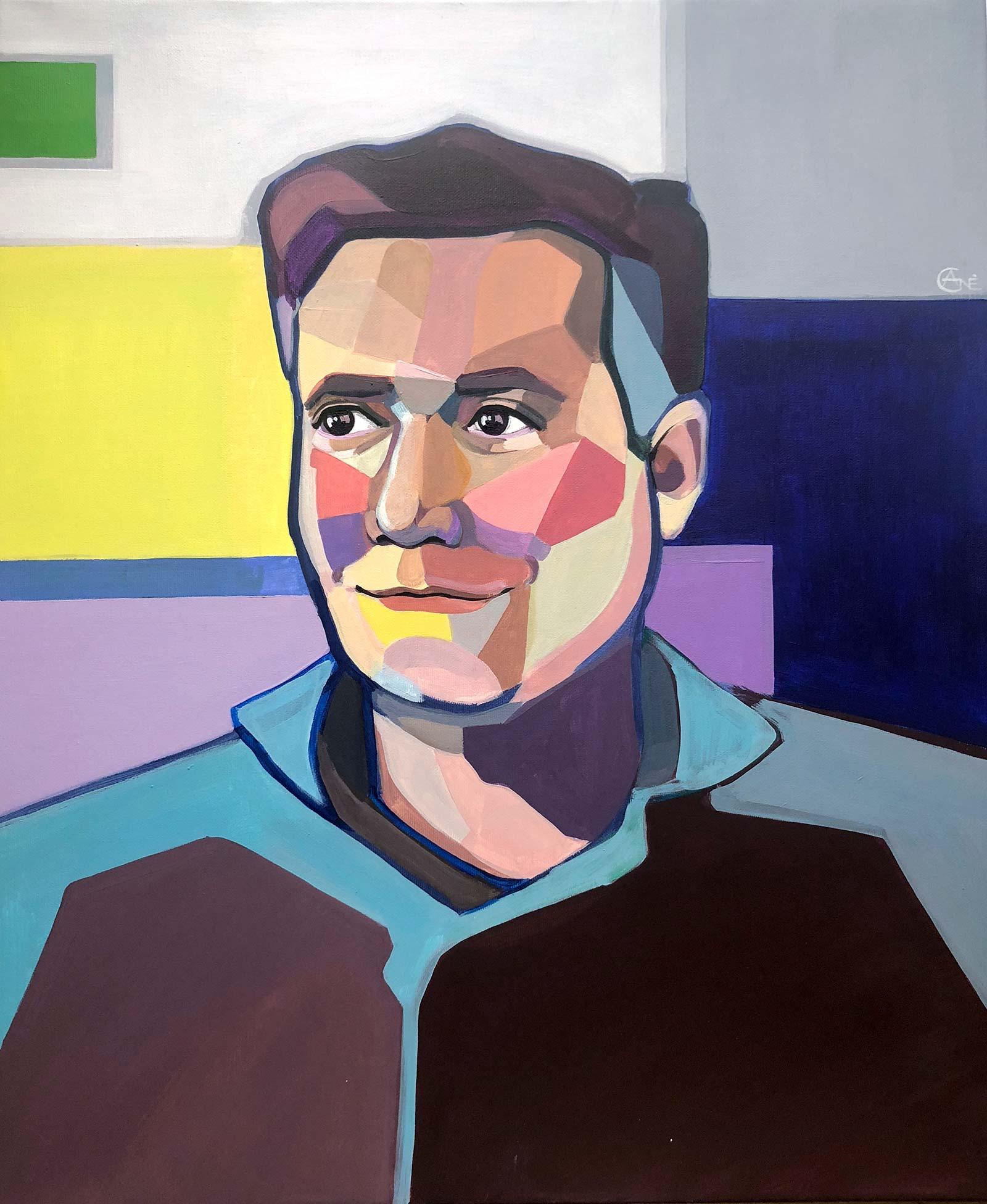 Modern portrait of Bertrand. Artist Agne Kisonaite