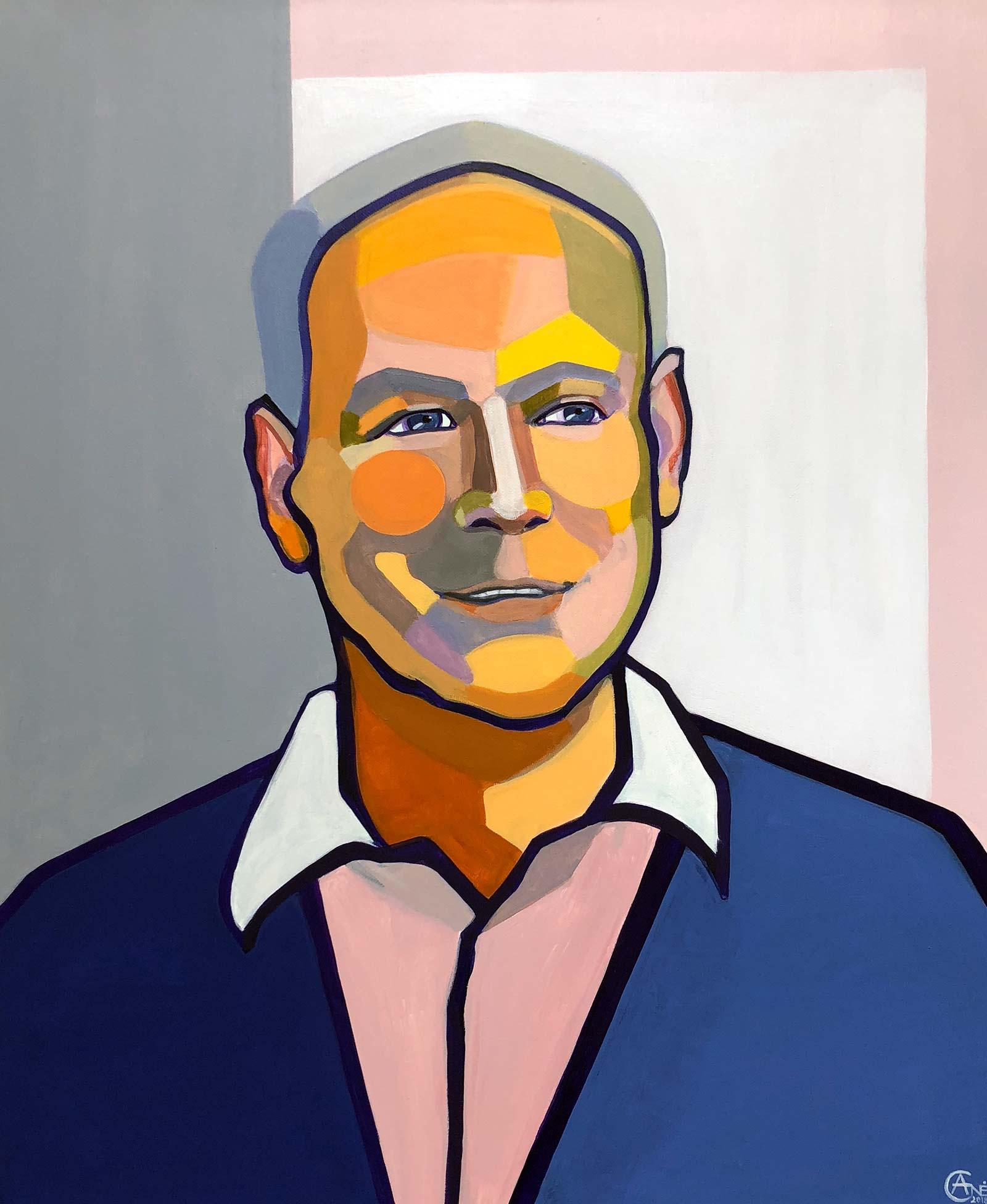 Modern portrait of Rolandas. Artist Agne Kisonaite