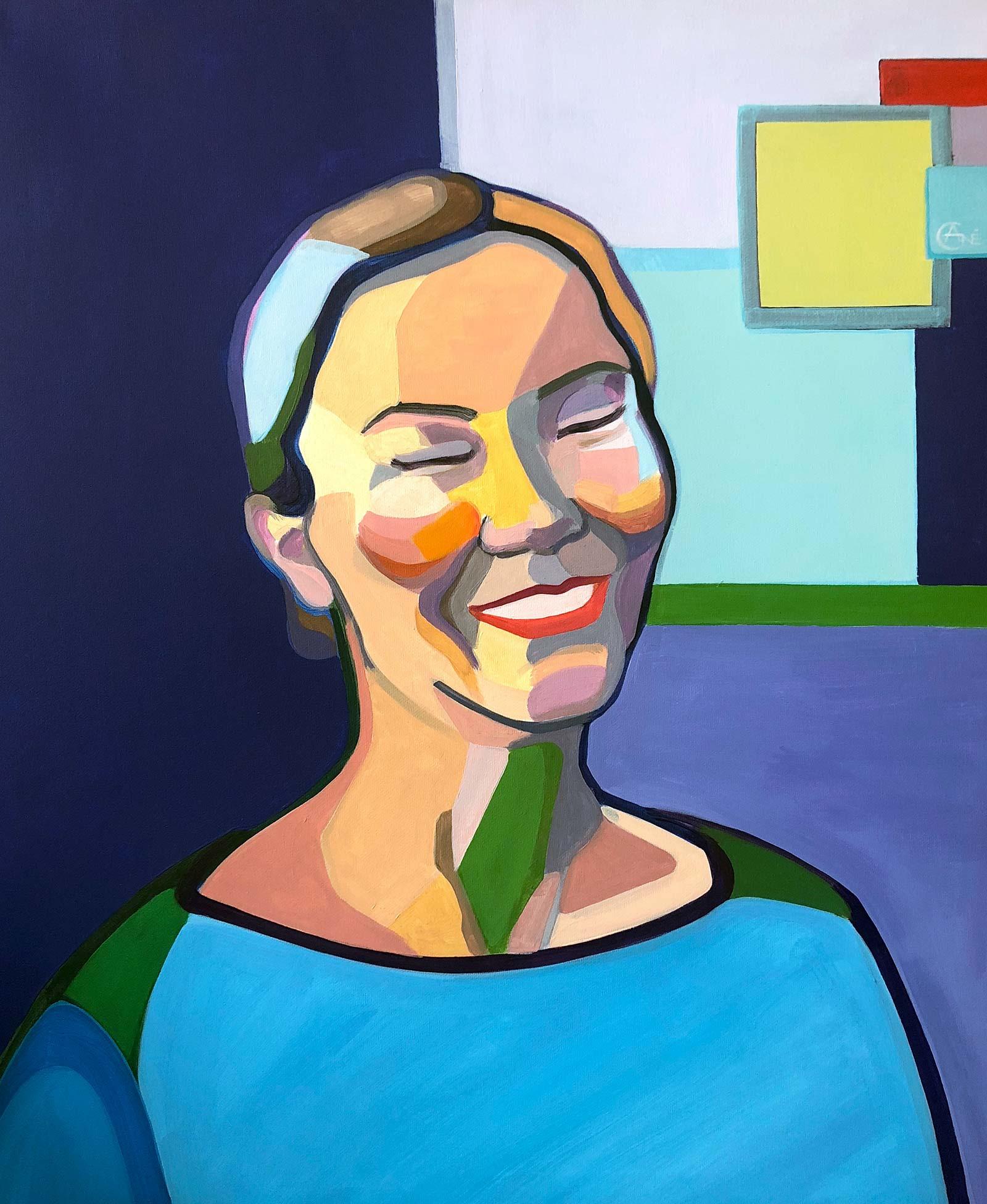 Modern portrait of Vaiva. Artist Agne Kisonaite