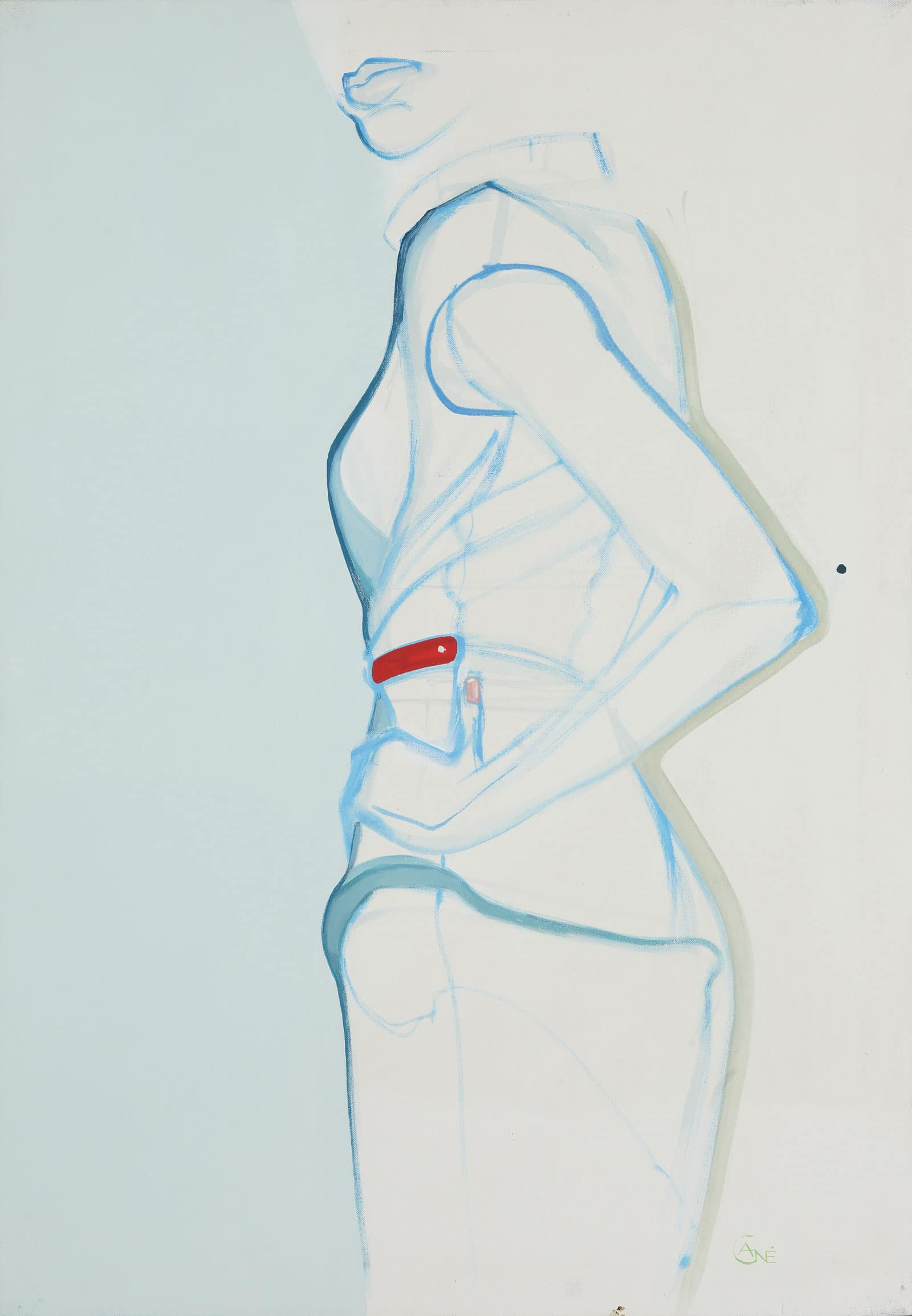 Modern acrylic painting 'Pose #1'. Artist Agne Kisonaite