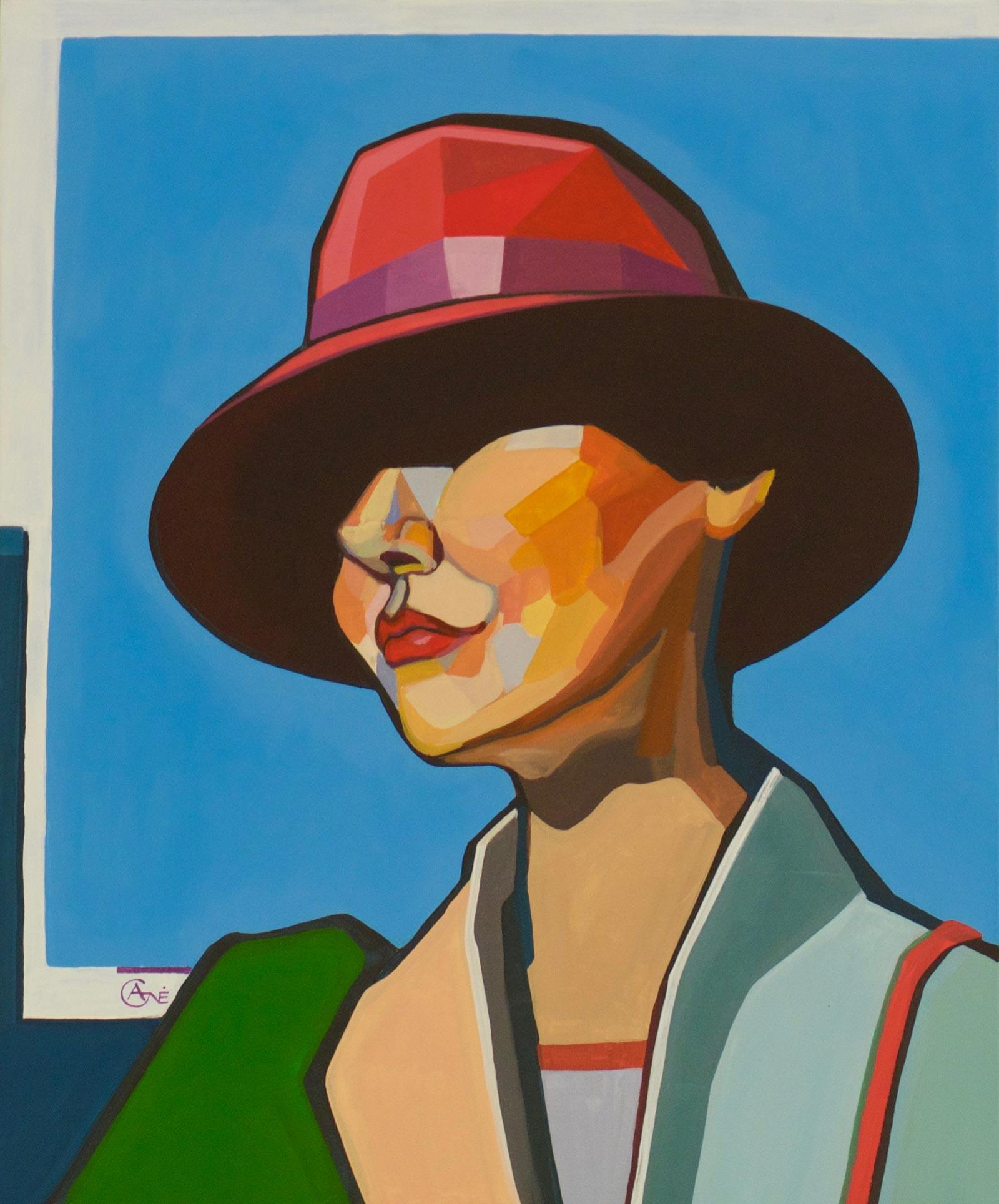 Modern acrylic painting 'Squinch'. Artist Agne Kisonaite