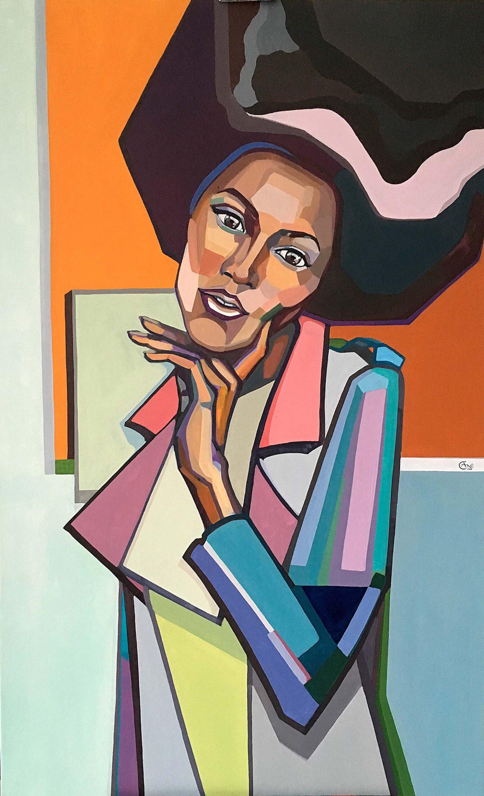 Modern acrylic painting 'Dreaming'. Artist Agne Kisonaite