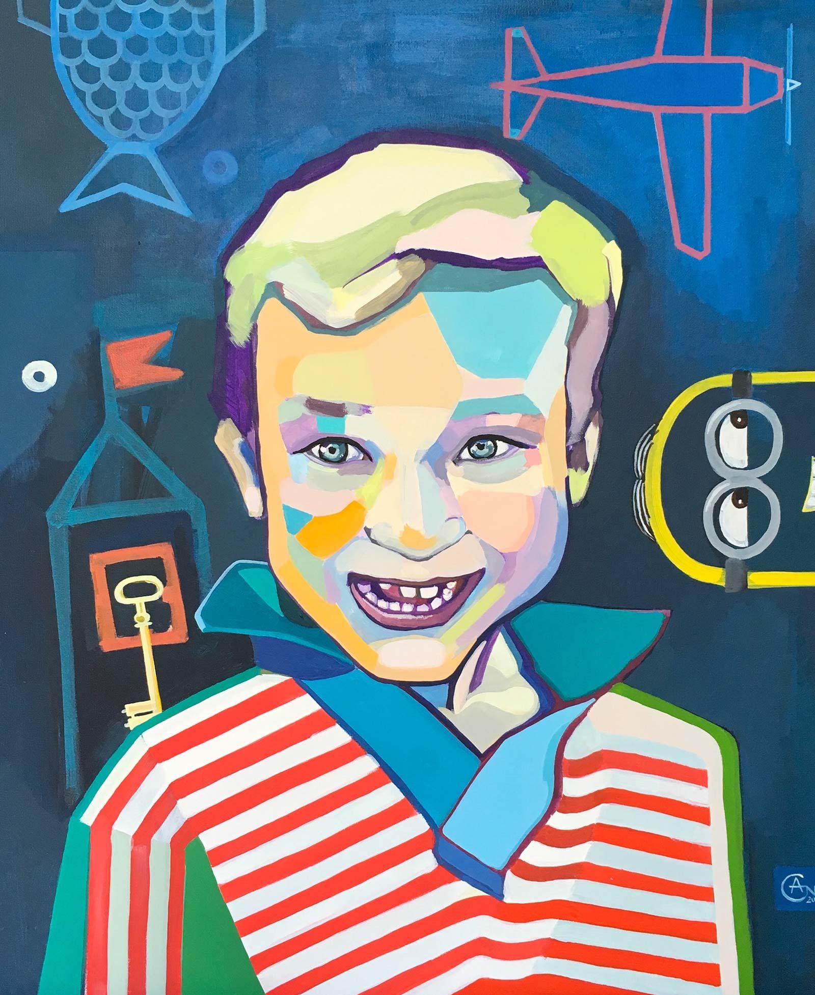 Modern portrait of Bernardas. Artist Agne Kisonaite