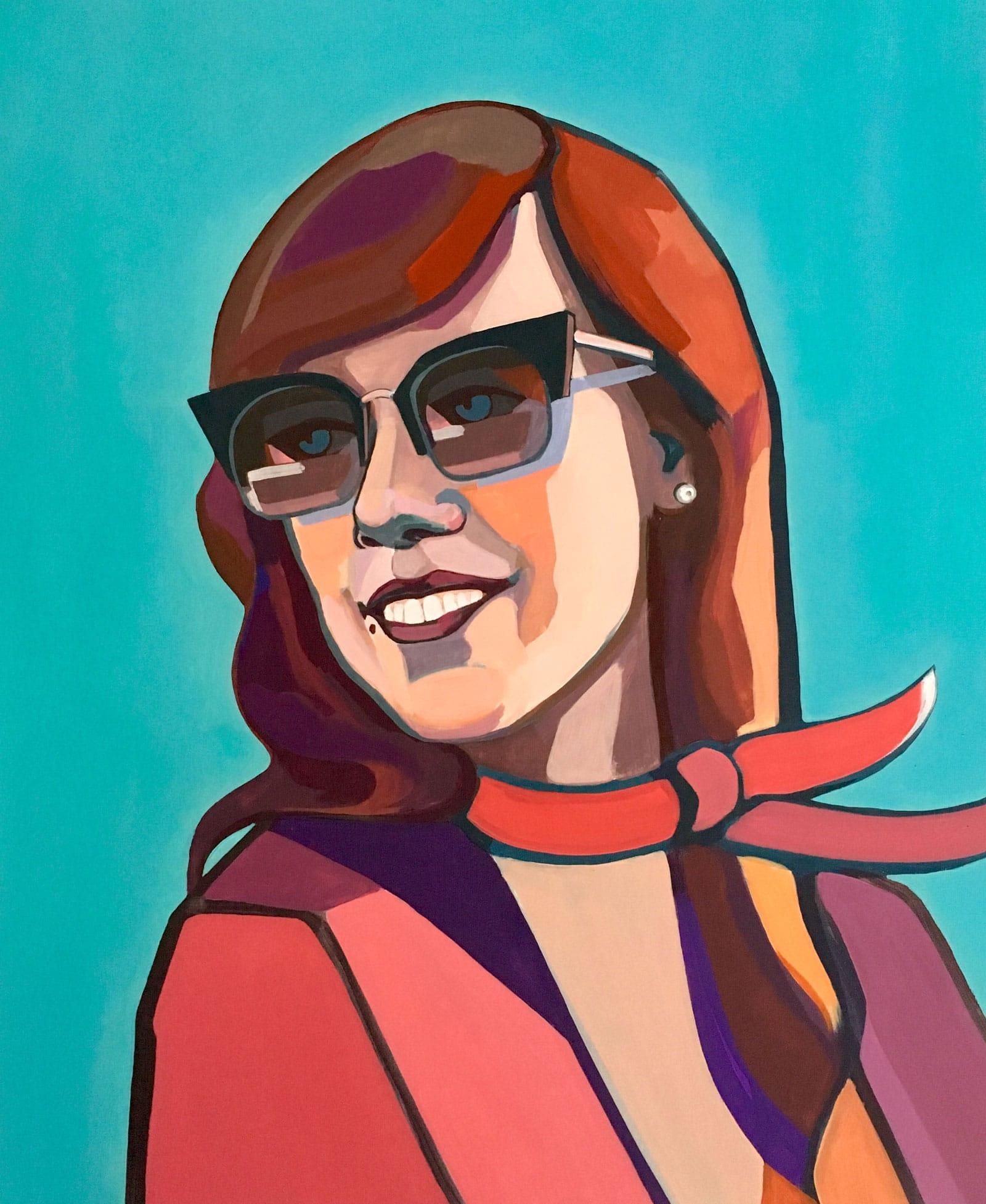 Modern portrait of Kristina. Artist Agne Kisonaite