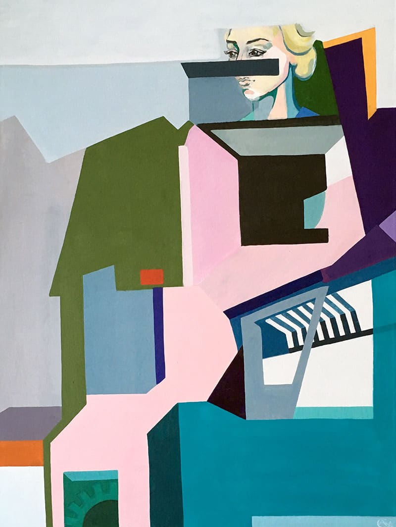 Thumbnail for painting Memory. Modern artist Agne Kisonaite