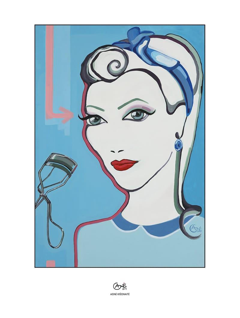 Agne Kisonaite painting reproduction print 'Beauty Supplements'