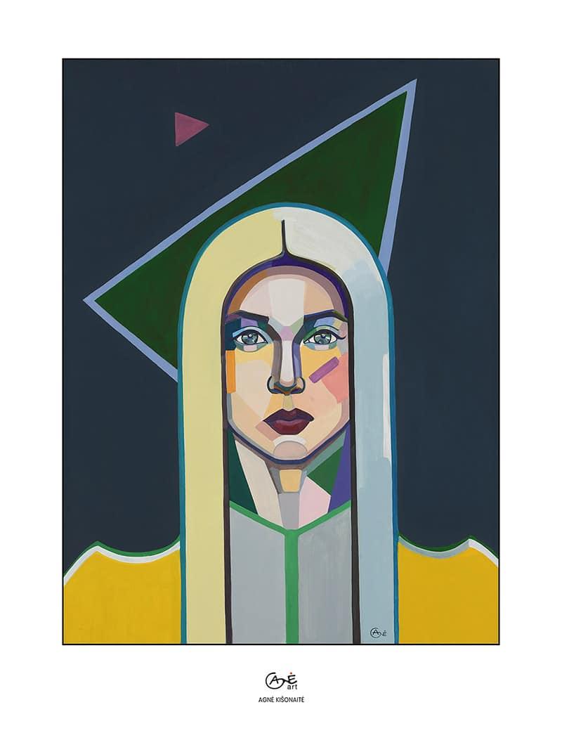 Agne Kisonaite painting reproduction print 'Cosmic Girl'