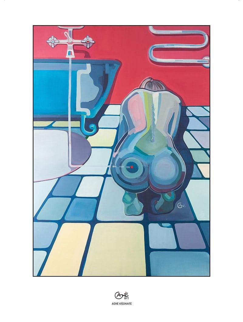 Agne Kisonaite painting reproduction print 'Contact Lens'