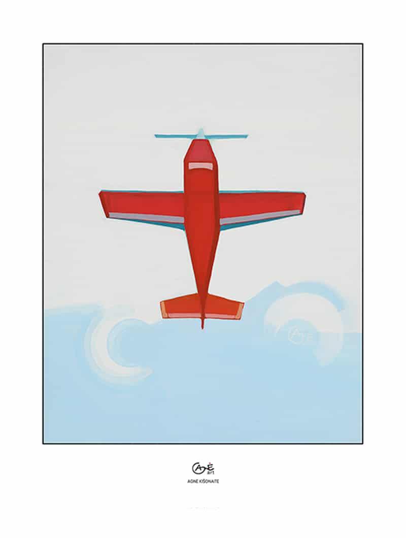 Agne Kisonaite painting reproduction print 'Flight'