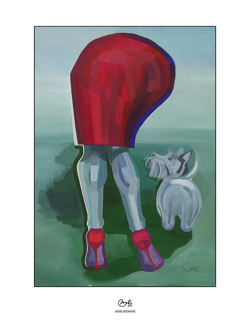 Agne Kisonaite painting reproduction print 'Inconvenient Formality'