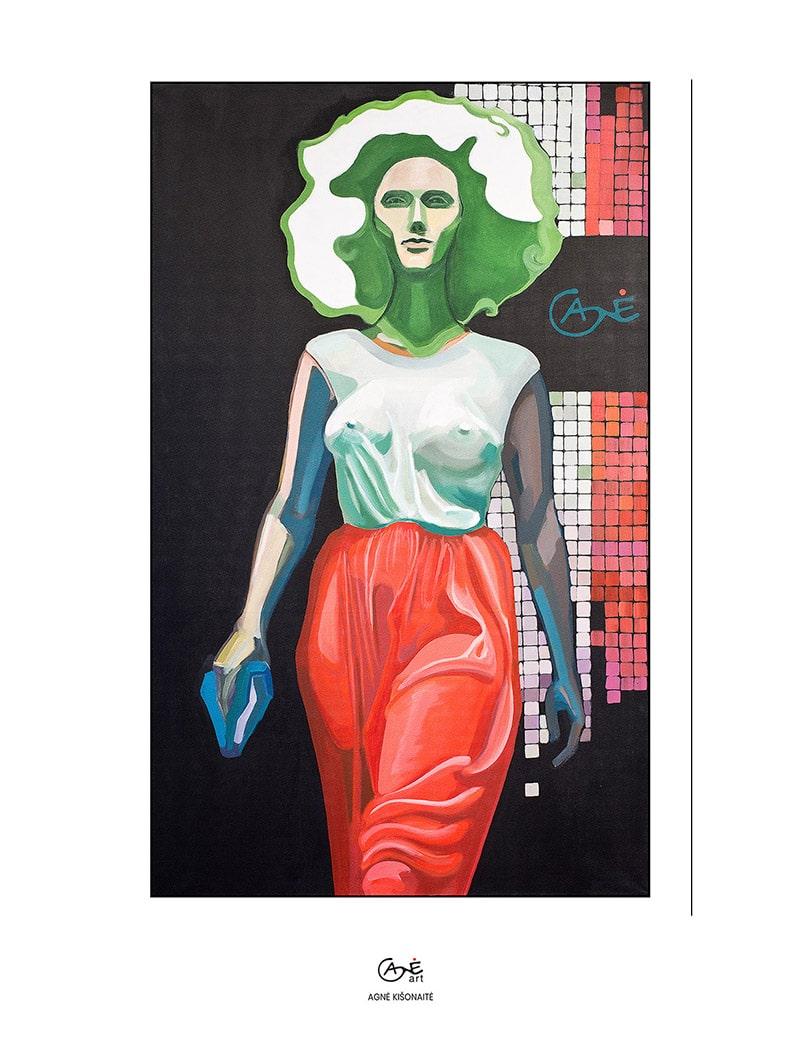 Agne Kisonaite painting reproduction print 'Italian Silk'