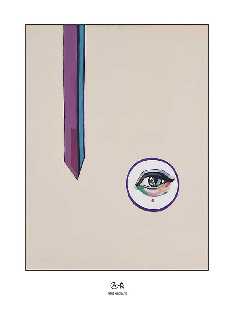 Agne Kisonaite painting reproduction print 'Keeping an Eye'
