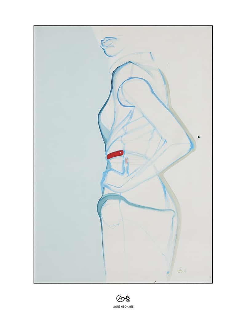 Agne Kisonaite painting reproduction print 'Posture No.1'