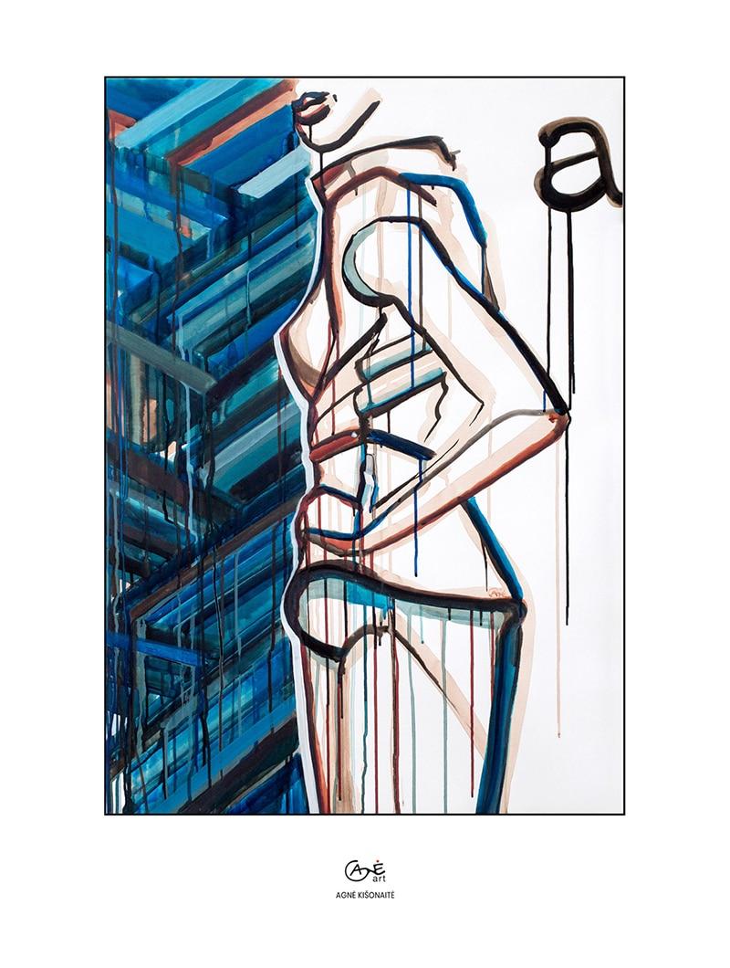 Agne Kisonaite painting reproduction print 'Posture No.4'