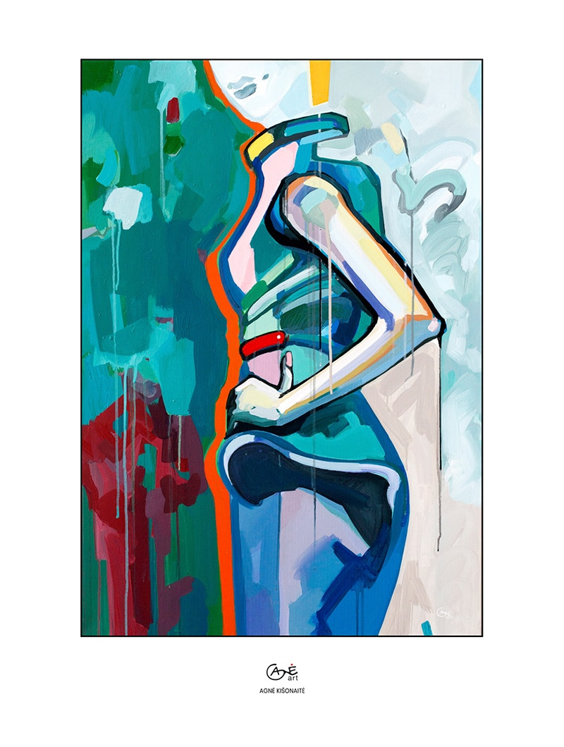 Agne Kisonaite painting reproduction print 'Posture No.3'