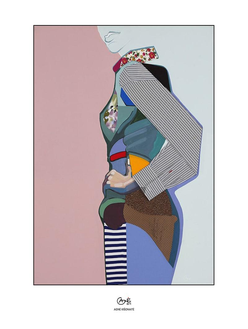 Agne Kisonaite painting reproduction print 'Posture No.5'