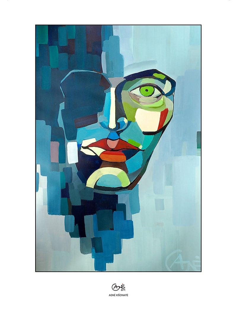 Agne Kisonaite painting reproduction print 'Rain'