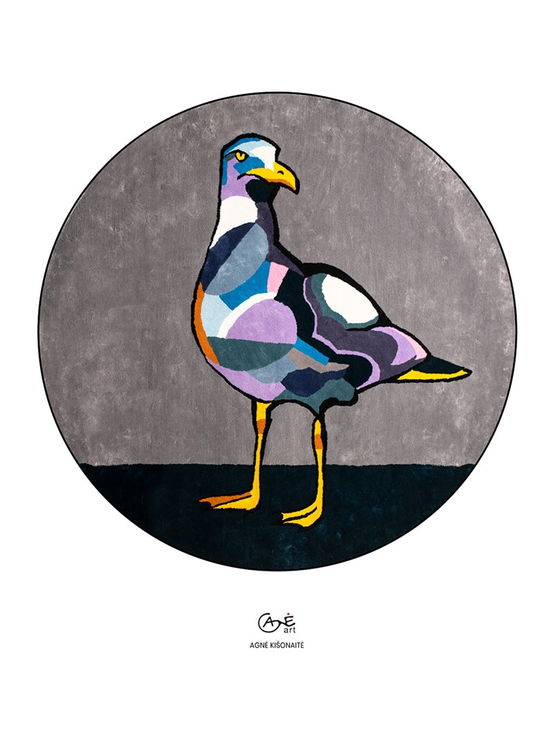 Agne Kisonaite painting reproduction print 'Seagull'