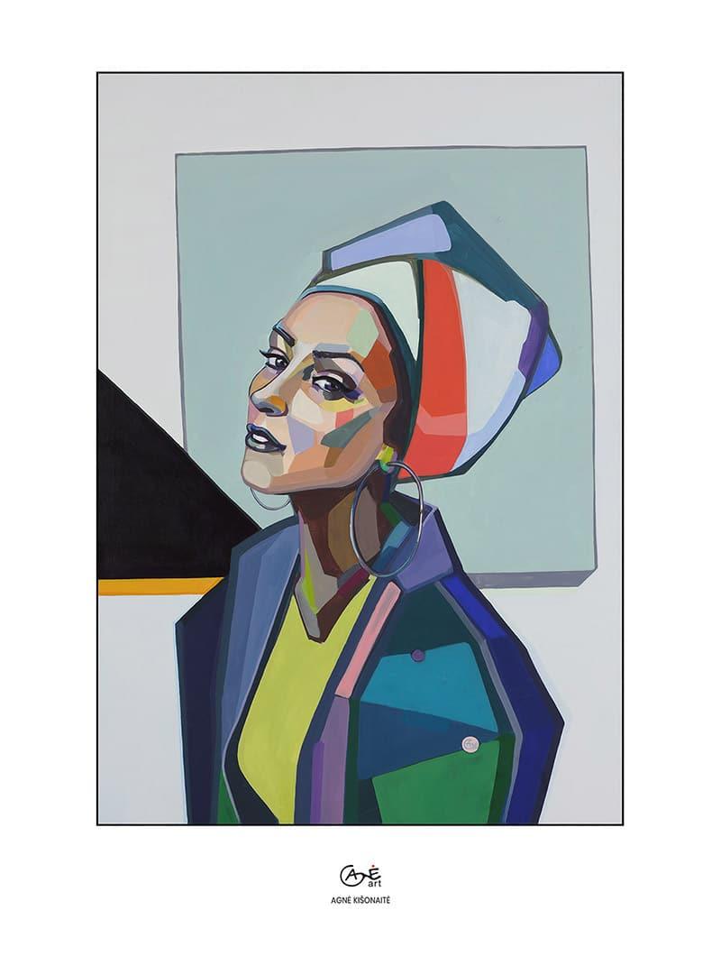 Agne Kisonaite painting reproduction print 'Selfie'