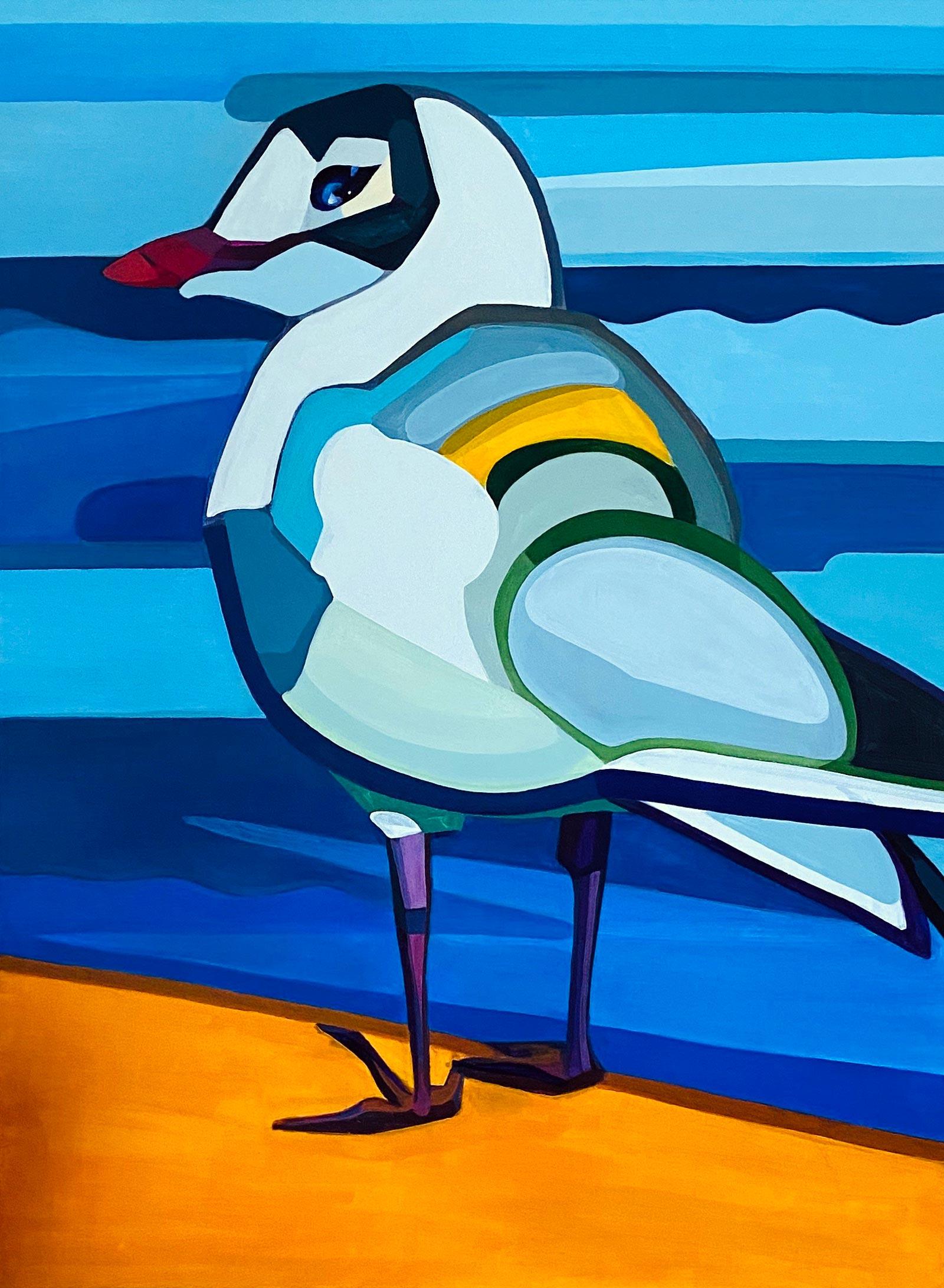 Modern acrylic painting 'Local'. Artist Agne Kisonaite