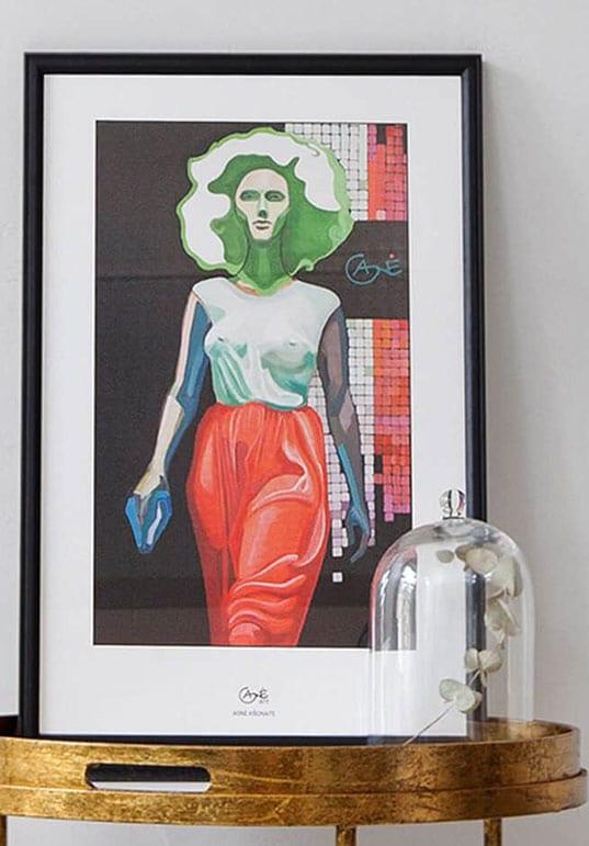 Modern artist Agne Kisonaite Portrait of Elena (thumbnail)