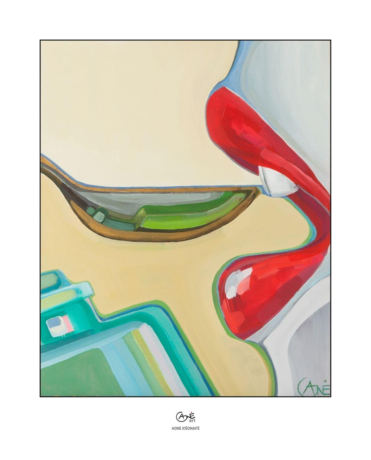 Agne Kisonaite painting reproduction print Cod Liver Oil