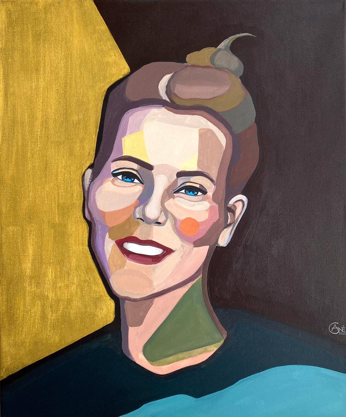 modern Portrait of Alina by artist Agne Kisonaite