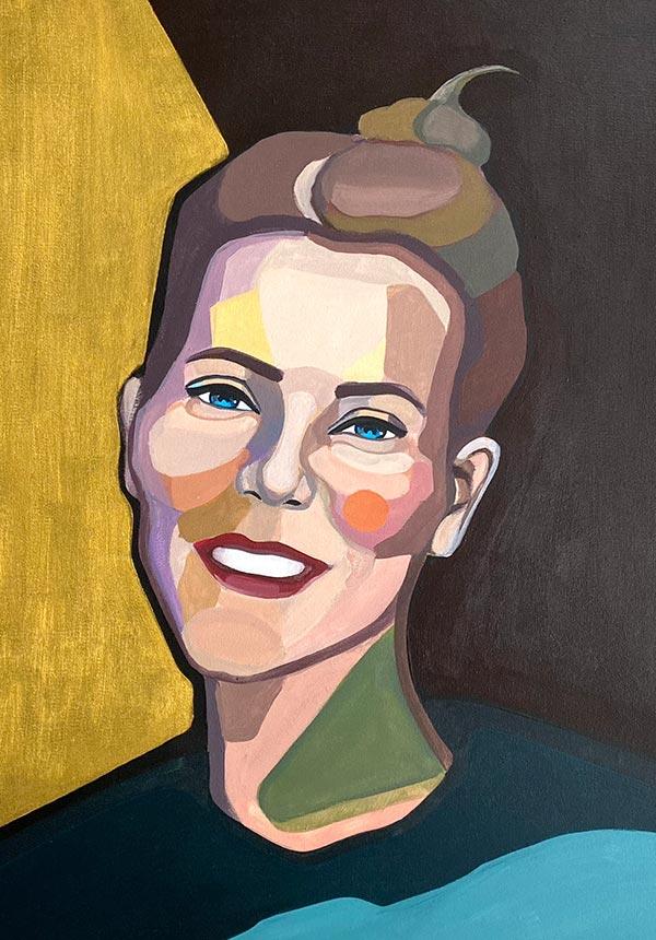 Thumbnail modern Portrait of Alina by artist Agne Kisonaite