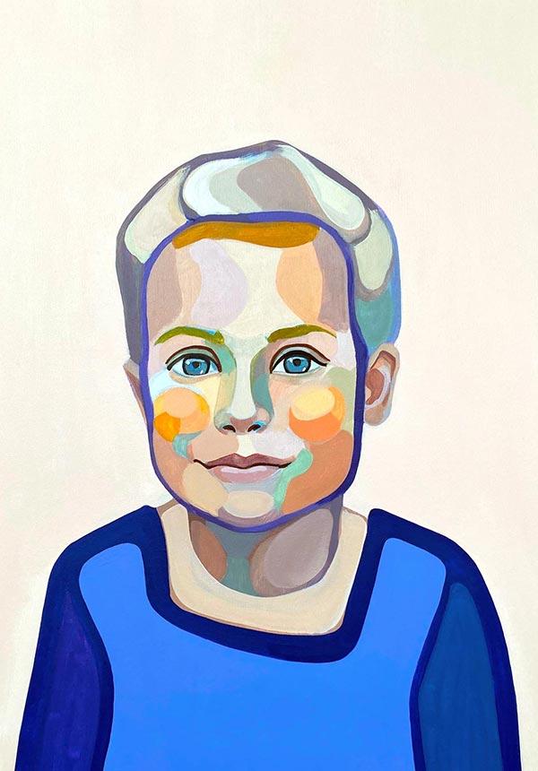 modernus Portretas Gabrielė menininkė Agnė Kišonaitė