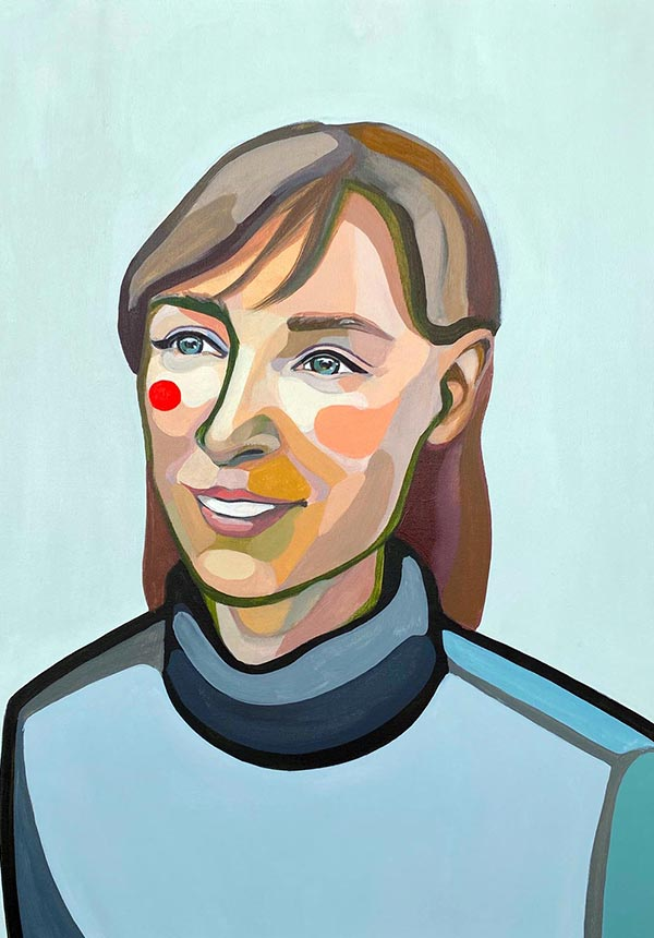 Thumbnail modern Portrait of Simona by artist Agne Kisonaite