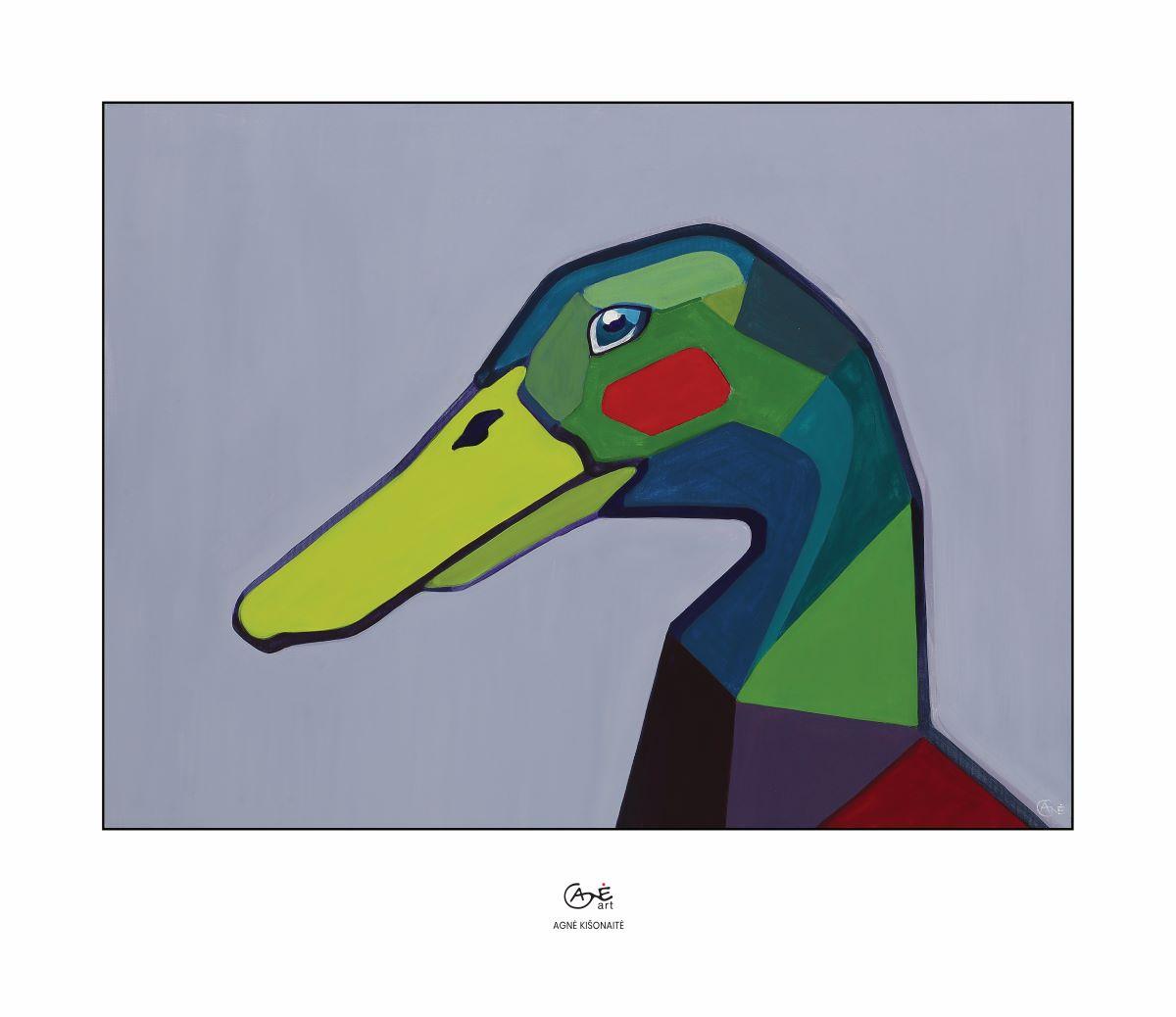 Print duck 52x45